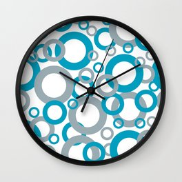 AI Aqua 098-59-30 Coloro 2021 Color Of the Year and Good Gray 122-66-02 Funky Geometric Rings Wall Clock
