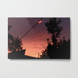 Spring sunset in the city Metal Print