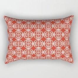 Asian screen - Red Rectangular Pillow