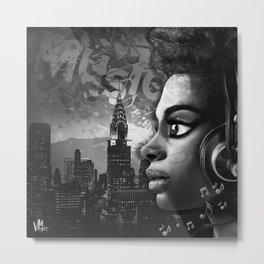 Music Girl NY Metal Print