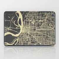 memphis iPad Cases featuring Memphis map by Map Map Maps