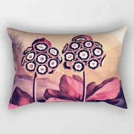 Warm Pink Auriculas Temple of Flora Rectangular Pillow