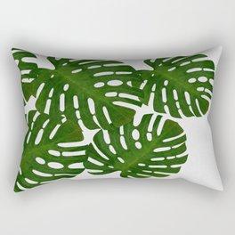 Monstera Leaf I Rectangular Pillow