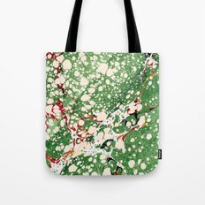 Marbled Green Bubbles Tote Bag