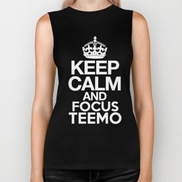 Keep Calm and Focus Teemo - League of Legends Biker Tank