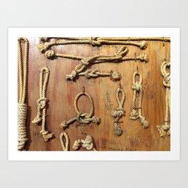 Knots Art Print