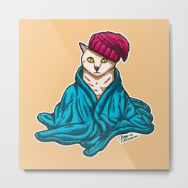 Warm Kitty Metal Print