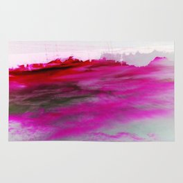 Purple Clouds Red Mountain Rug