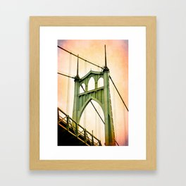 ST. JOHNS BRIDGE Framed Art Print
