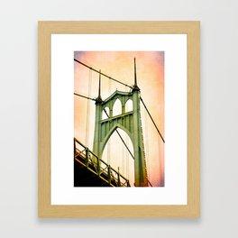 ST. JOHNS BRIDGE - PORTLAND Framed Art Print