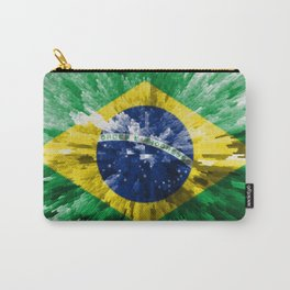 Extruded flag of Brazil Carry-All Pouch