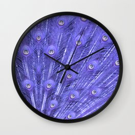 Peacock's feather-violet Wall Clock