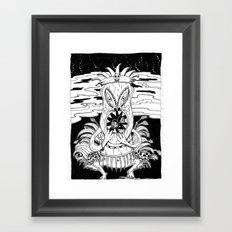 Tiki lunch Framed Art Print