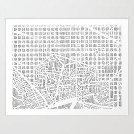 barcelona city print Art Print