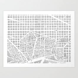 barcelona city print Art Print