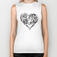 ferret Biker Tanks featuring Ferret Love by Mel Hampson