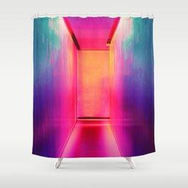Neon Hallway (Color) Shower Curtain