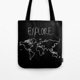 Explore World Map Tote Bag