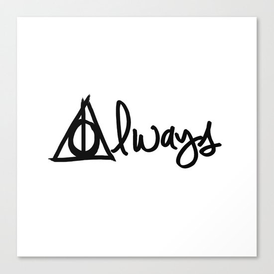 Always, Deathly Hallows, Harry Potter Canvas Print