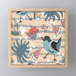 Exotic Birdies Framed Mini Art Print