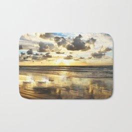 Golden Surf Sunrise Bath Mat