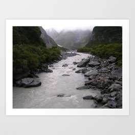 Glacial Peek-a-boo Art Print