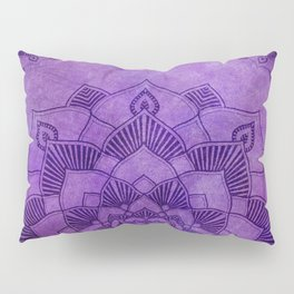 Deep Purple Lotus Mandala Pillow Sham