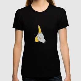 Bouldering Rock Climbing crimp hand on hold Art T-shirt