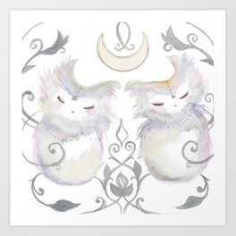 Moon & Mirror Twins Art Print