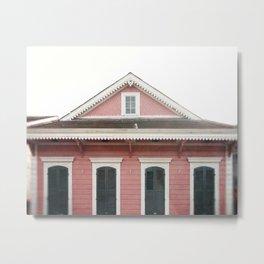 Pink House in Nola | New Orleans  Metal Print