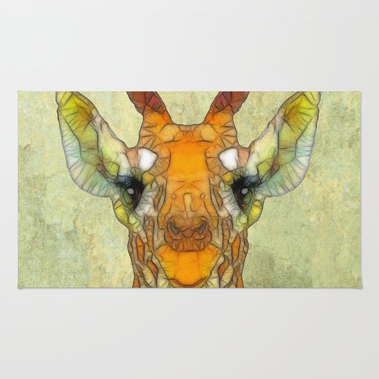 abstract giraffe calf Rug