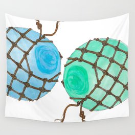 Glass Floats Wall Tapestry