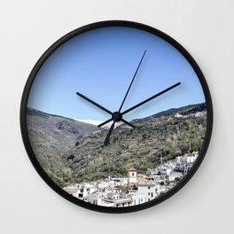 Pueblos Blancos with Sierra Nevada Wall Clock