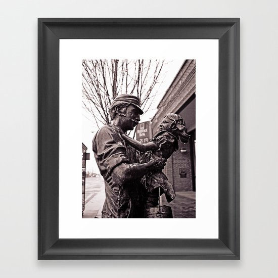 Father and daughter Framed Art Print
