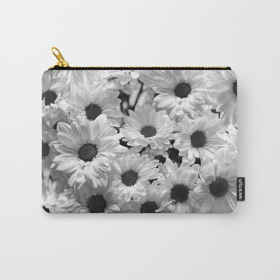 Daisy Chaos in Black and White Carry-All Pouch