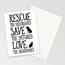 Rescue Save Love Stationery Cards