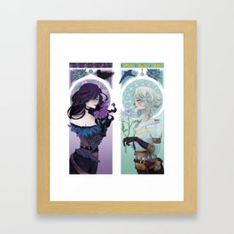 The Crow & The Swallow Framed Art Print