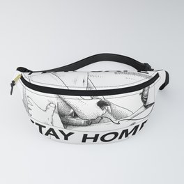 asc 443 - Le joystick (Toying with Pong) STAY HOME Fanny Pack