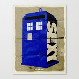 Minimalist Doctor Who  - SEXY TARDIS Canvas Print