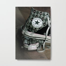 Worn Out Chucks Metal Print