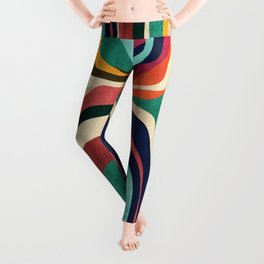 Impossible contour map Leggings