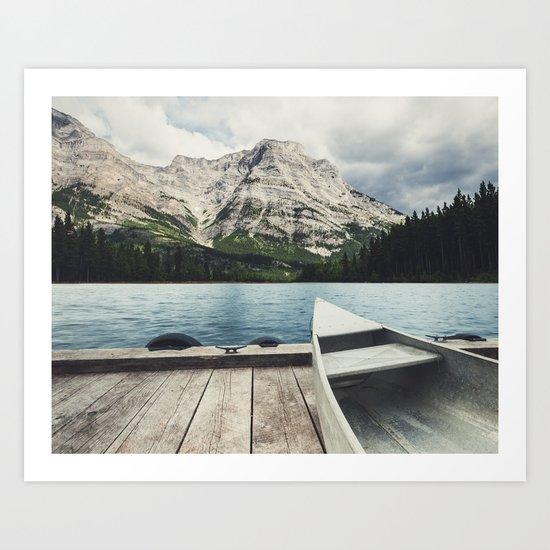 Canoeing the Wilds Art Print