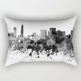 Genoa skyline in black watercolor Rectangular Pillow