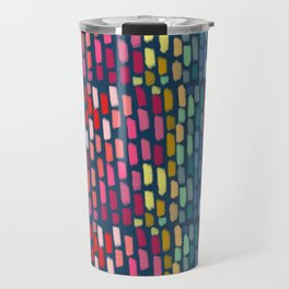 Rainbow Chalk Rain Travel Mug