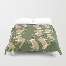 Cougar pattern #2 Duvet Cover