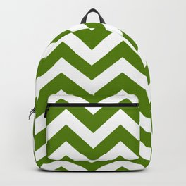 Avocado - green color - Zigzag Chevron Pattern Backpack