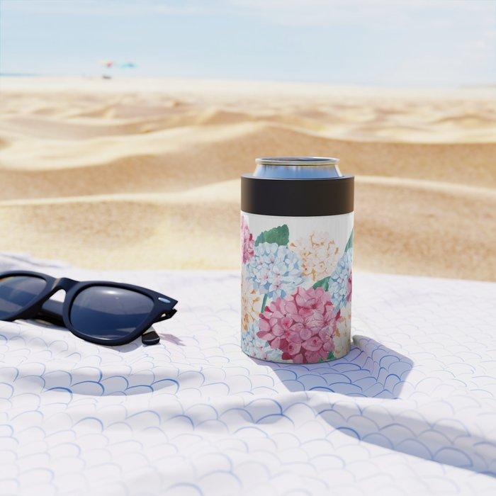 Hydrangea Art Can Cooler