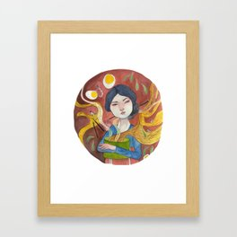 The Noodle Lady Framed Art Print