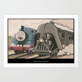 Thomas And Darth  Art Print