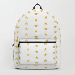 Luxe Gold Tiny Christmas Stars Confetti, Drawn Seamless Vector Pattern Backpack